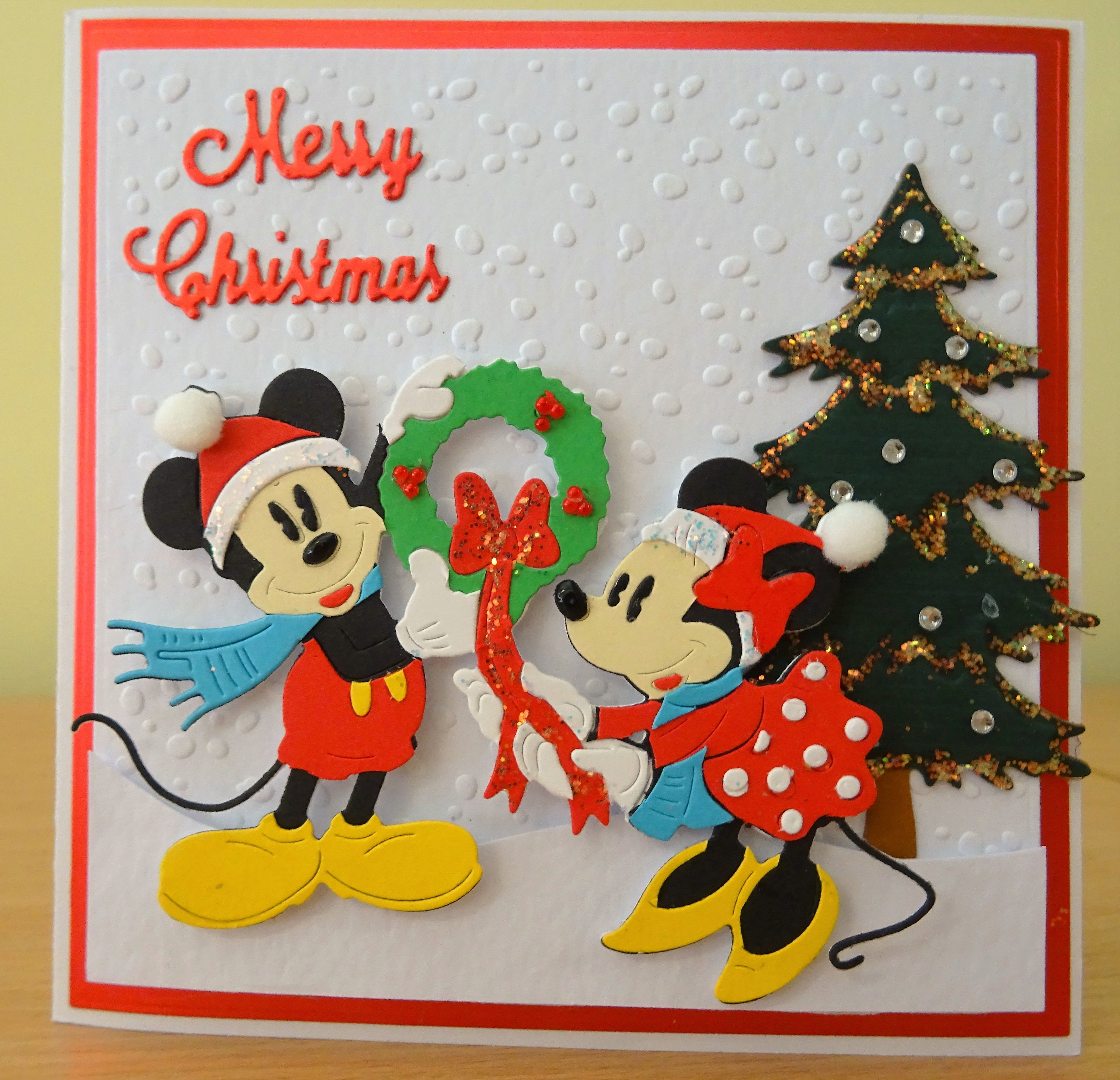 Handmade Christmas Card - Mickey & Minnie Mouse Disney Die. For more ...