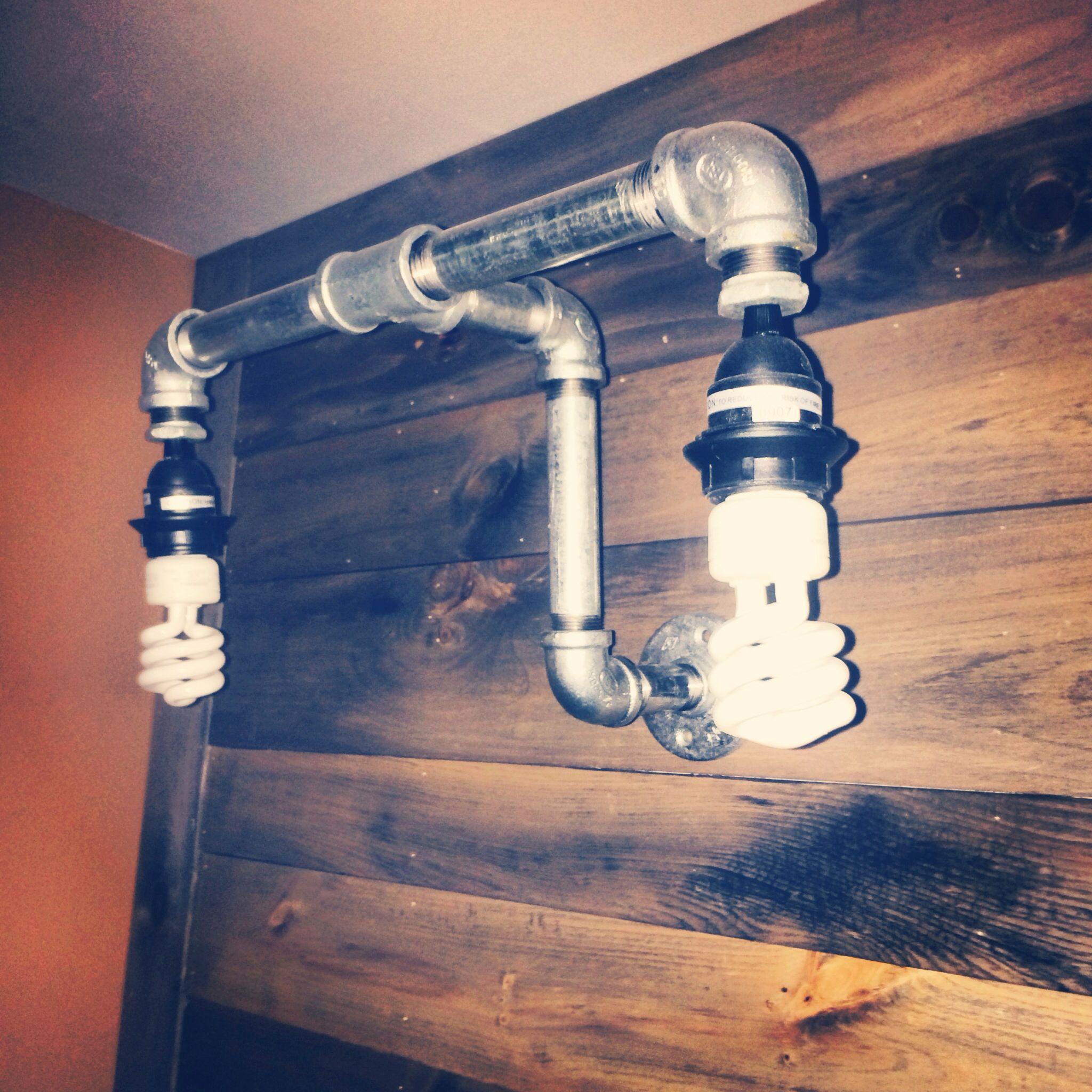 3/4 Galvanized pipe lights! Ste&unk DIY & 3/4 Galvanized pipe lights! Steampunk DIY   Steampunk Decor ...