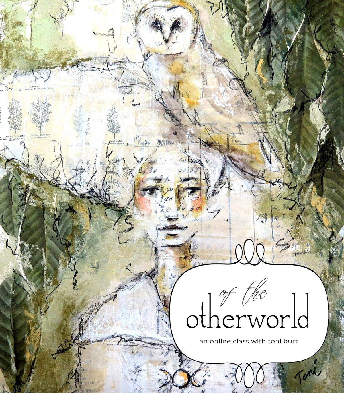 of the otherworld - mixed media online art class #onlineclasses