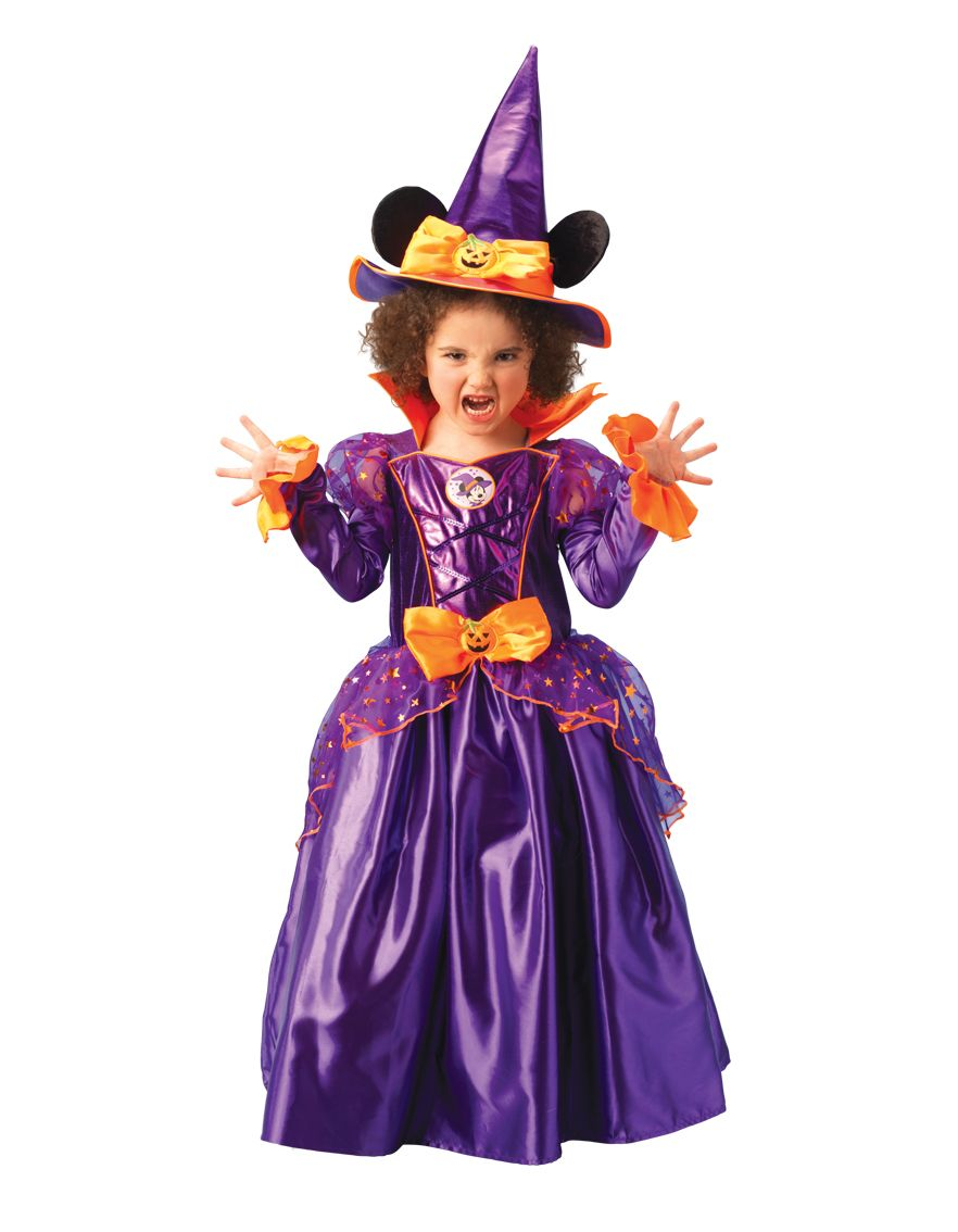 minnie mouse witch halloween fancy dress girls kids disney costume age 3 8 years