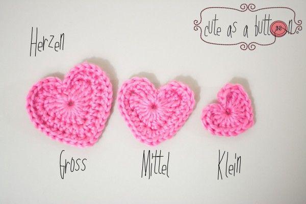 Cute as a button Herz Häkelanleitung - kostenlos | youtube (crochet ...