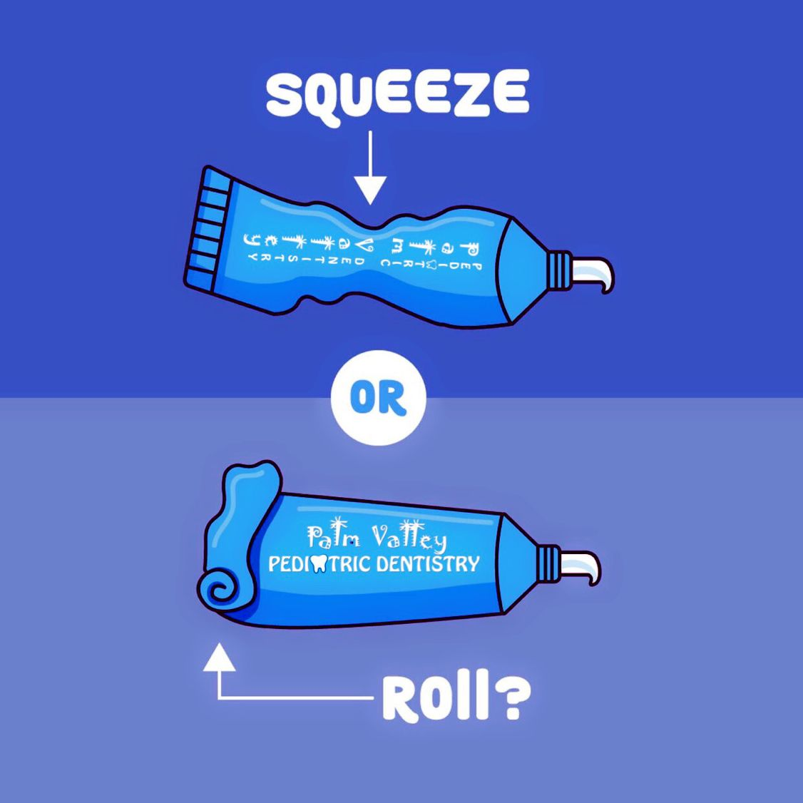 Do you squeeze or roll your toothpaste tube let us know
