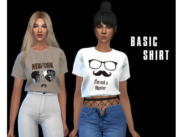 a179b3516f6 Basic Shirt by leosims - The Sims 4 Download - SimsDomination