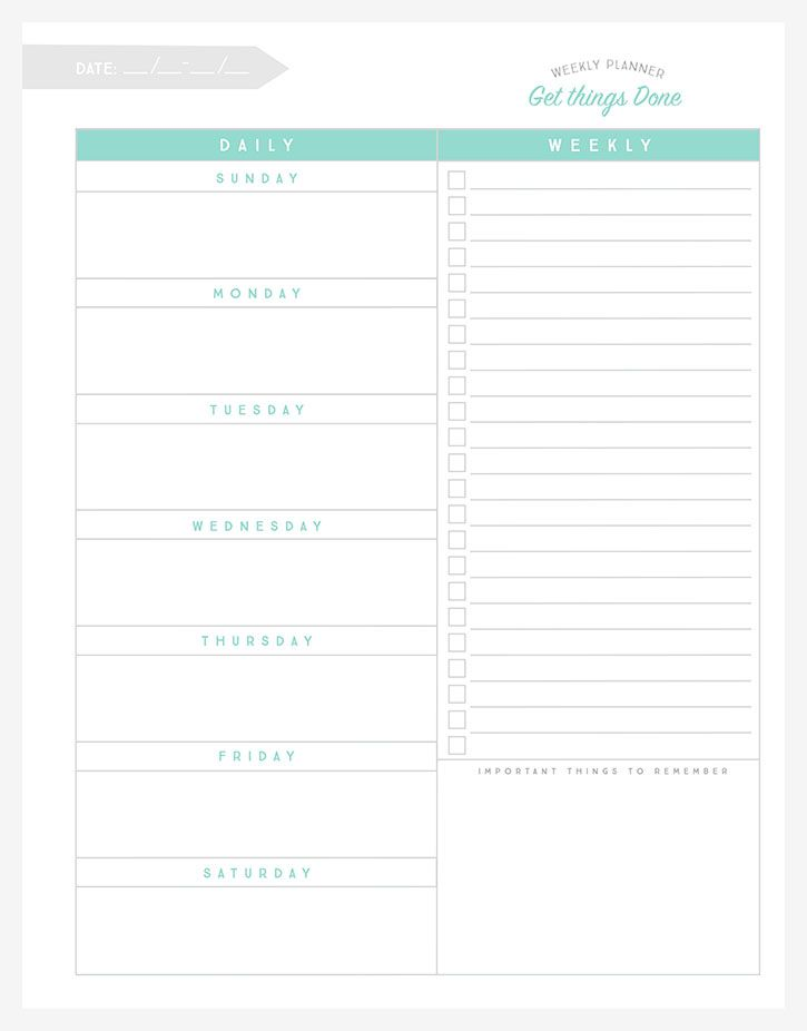 Organizational Printables to Streamline Your To-Do Lists, Your - agenda planner template