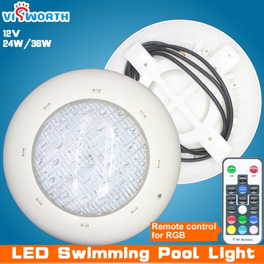 Wholesale Swimming Pool Light 24w 36w Ac Dc 12v Rgb Remote Controller Outdoor Lighting Ip68 Waterproof Underw Pool Light Swimming Pool Lights Led Pool Lighting