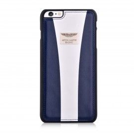 Aston Martin iPhone 6/6S Back Case Racing Strap Navy/White