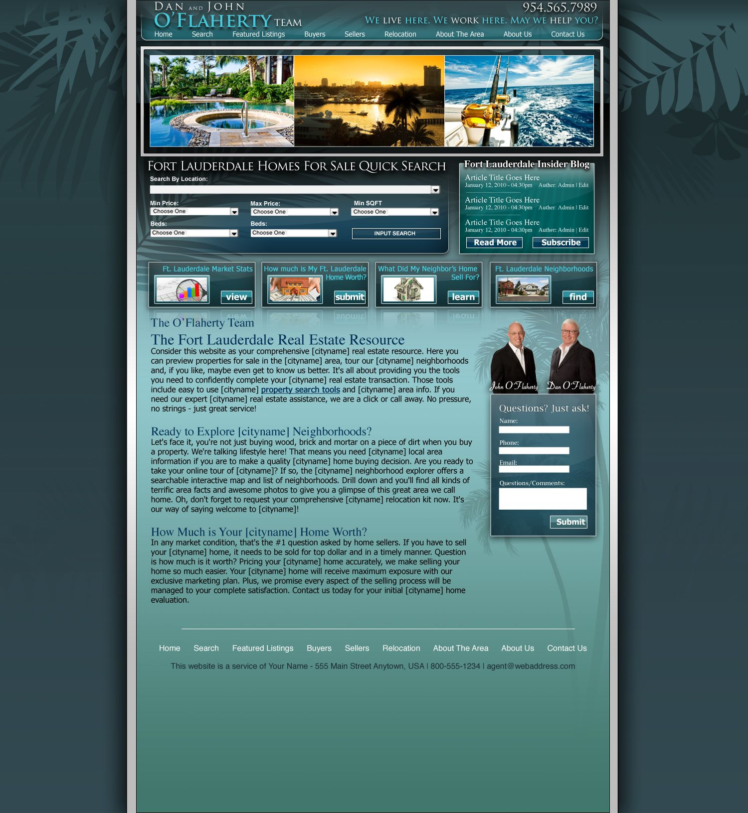 Dakno Customized Hybrid Real Estate Website And Wordpress Blog Designed For Fort Lauderdale Real Fort Lauderdale Real Estate Real Estate Web Design Real Estate