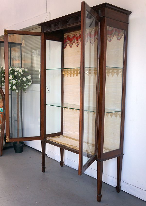 antique cabinets with glass doors | Antique Display Cabinet Mahogany Glass  Doors Sides Home OR Shop | eBay - Antique Display Cabinet Mahogany Glass Doors & Sides Home Or Shop