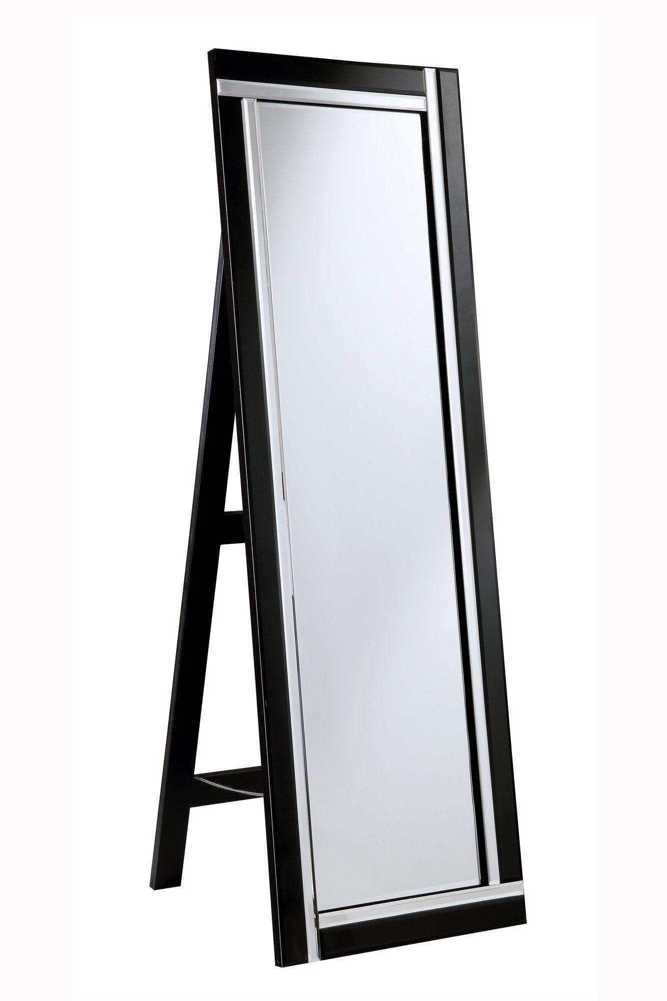 Modern Black Rectangle Mirror Modern floor mirrors