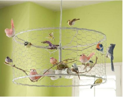 Diy bird chandelier made from old lamp shade chicken wire and diy bird chandelier made from old lamp shade chicken wire and cheap bird ornaments keyboard keysfo Choice Image