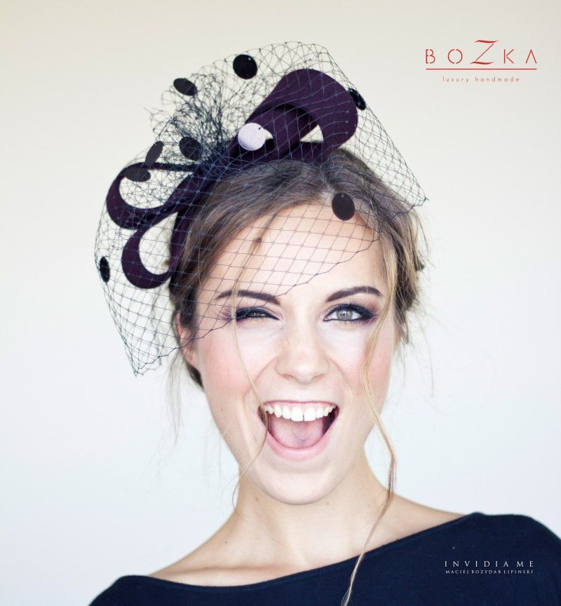d12b13f6c Giant burgundy bow with veil Fascinators and headpieces Crazy ...