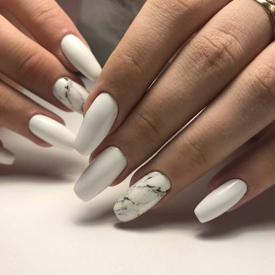Best Nail Art Designs In 2019 Page 14 Of 33 Beauty Zone X White Gel Nails White Acrylic Nails January Nails