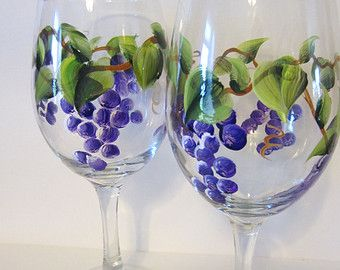 2 Hand Painted Beach Chair Wine Glasses by EverythingPainted