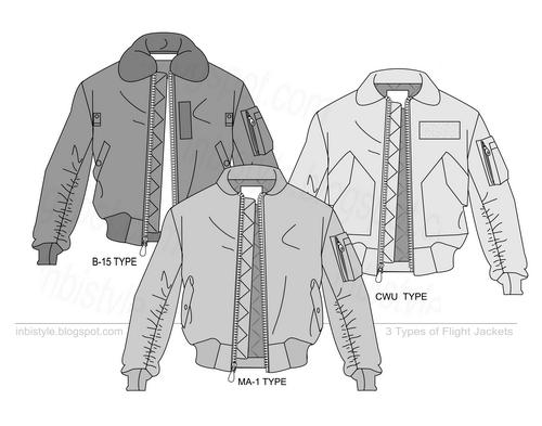 B15 Ma1 Cwu Flight Jackets Vector Flat Sketches Jacket Drawing Flat Sketches Fashion Design Sketches