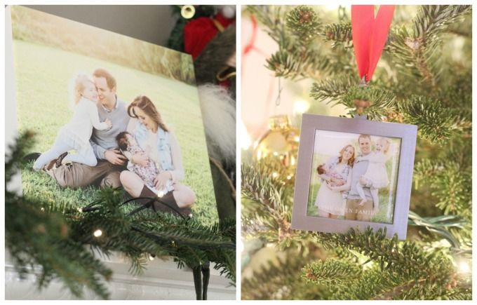 Canvas prints and photo ornaments from Meg On The Go