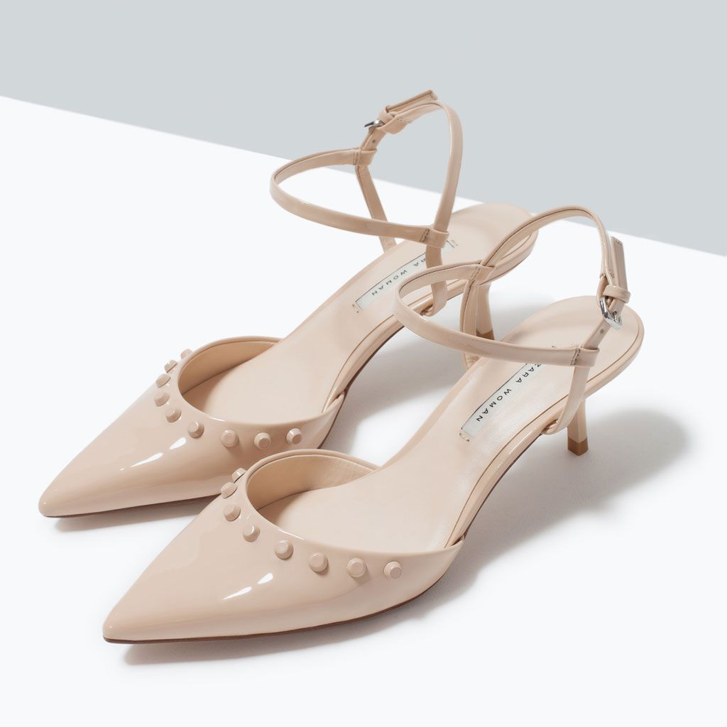 ad56bf3e905 KITTEN HEEL STUDDED SHOES-Special Sizes-Shoes-WOMAN