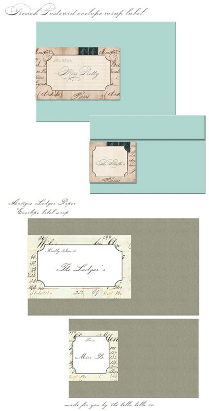 free-french-vintage-mailing-labels Click on link for freebie - free christmas mailing labels template