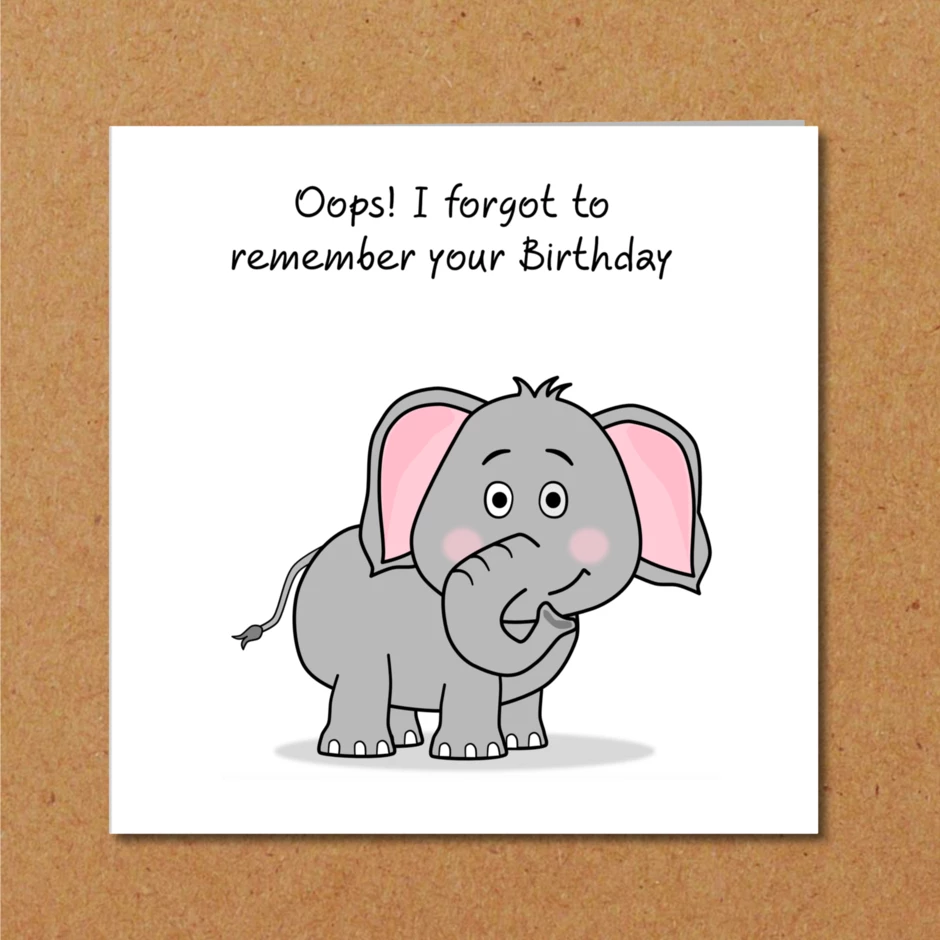 Oh Crumbs I Forgot Your Birthday Card Arthouse Unlimited