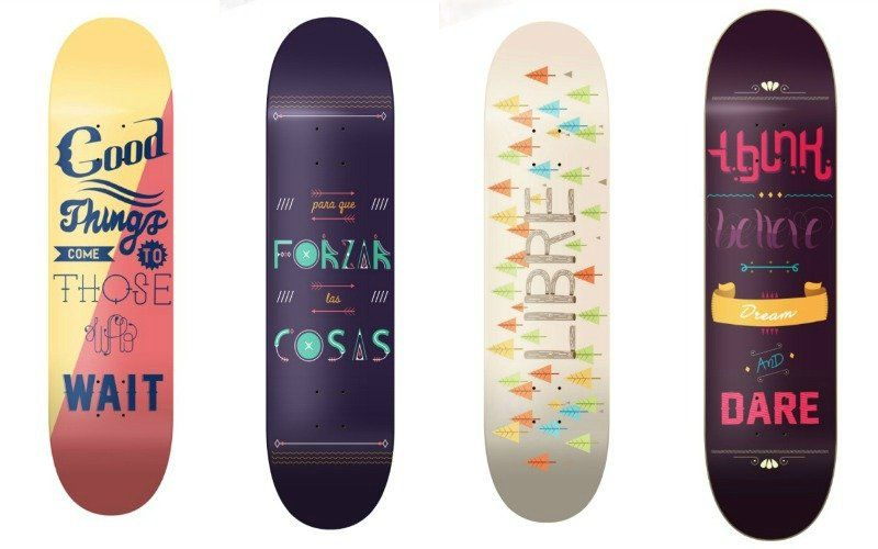 Fingerboard Decks via Hola Fernandez | Radical Decks for National Go Skateboarding Day