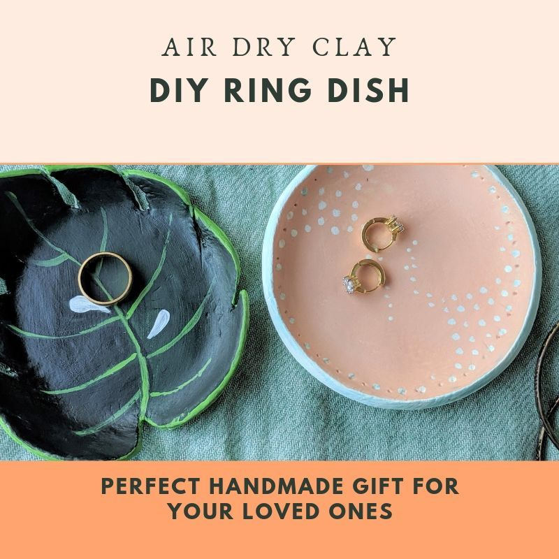 Air dry clay ring dish Easy handmade gifts, Air dry clay