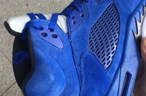 4798a6a87bf More Images Of The Air Jordan 5 Blue Suede | Air Jordans | Air ...
