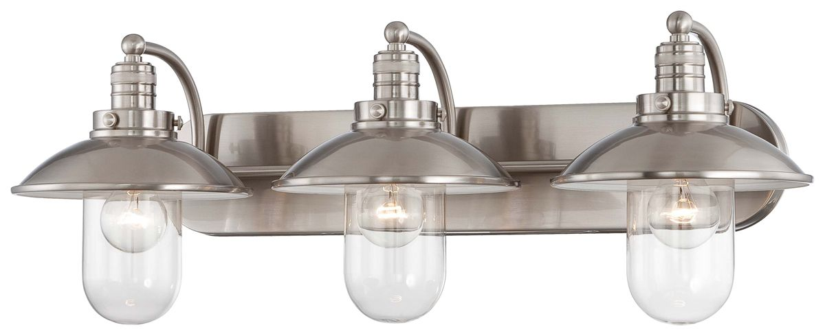 Nautical Bathroom Light Fixture: Minka Lavery (5133-84) Downtown Edison Collection 3 Light