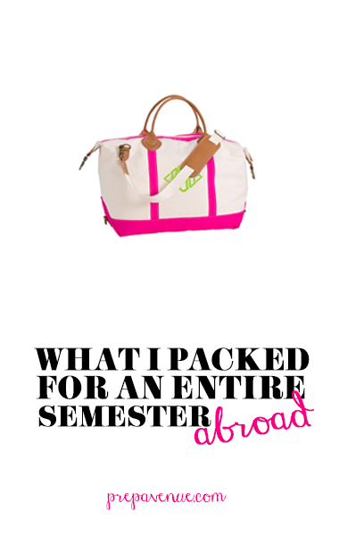 Prep Avenue: Packing for a Semester Abroad