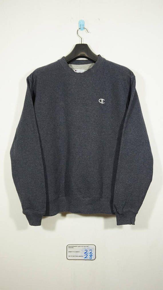 Vintage Champion Dark Grey Sweatshirt Size Medium m