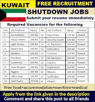 Shutdown Jobs In Kuwait 2018 High Paying Jobs For Women