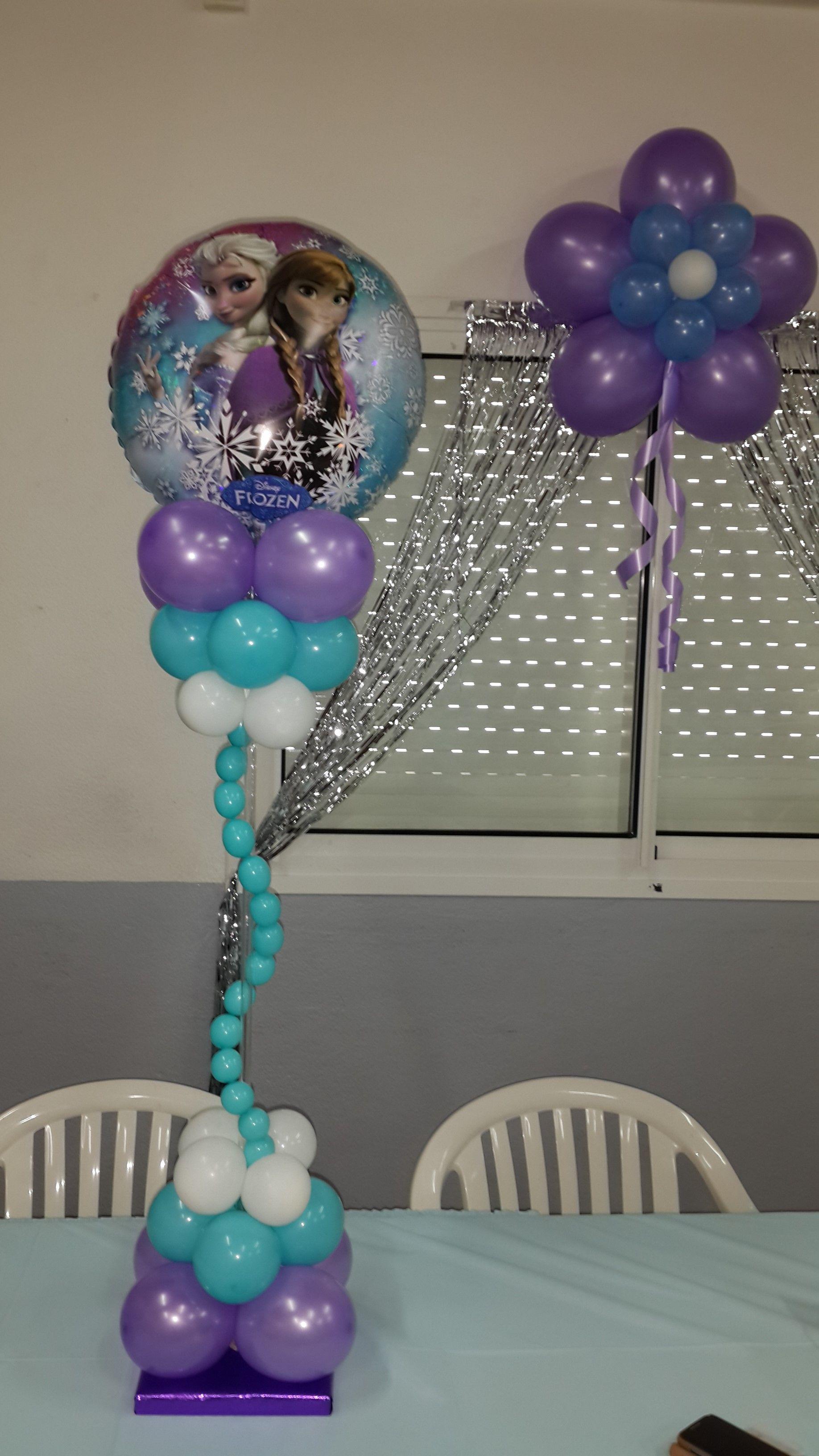 Frozen centerpiece frozen party pinterest frozen for Frozen balloon ideas