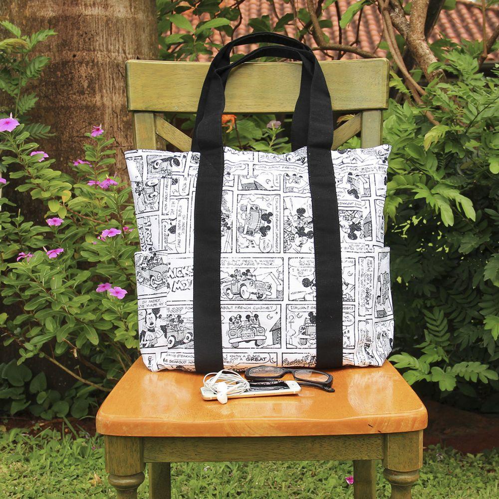 Bolso de tejido Canvas Verona, disponible en el diseño de Mickey Mouse.