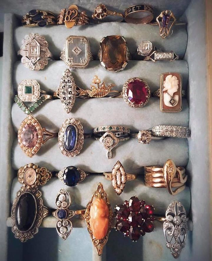 Photo of One day I will have a collection of chunky stone rings