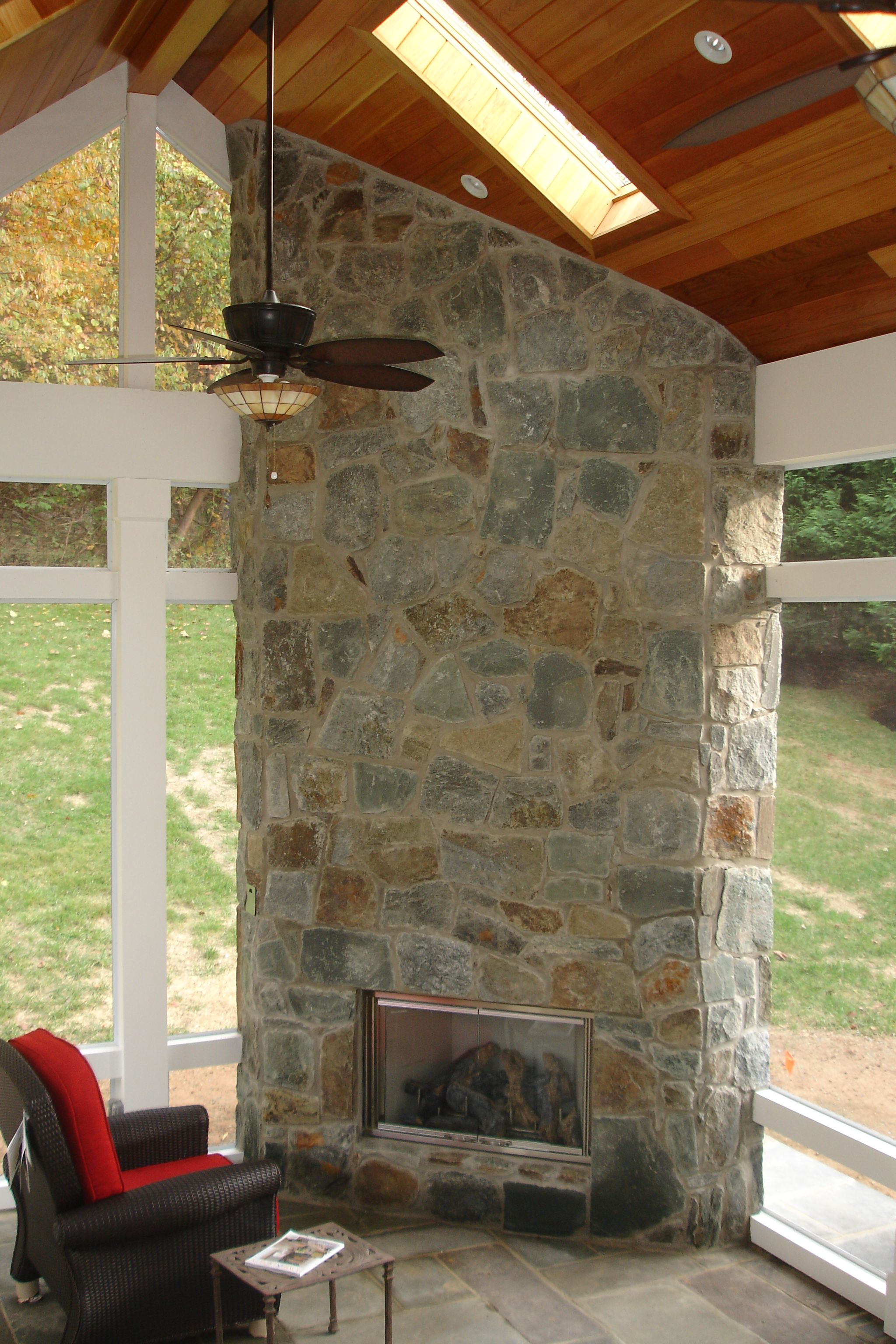 How Much Does It Cost To Build A Fireplace In A Screened In Porch Build A Fireplace Building A Deck Outdoor Living Deck