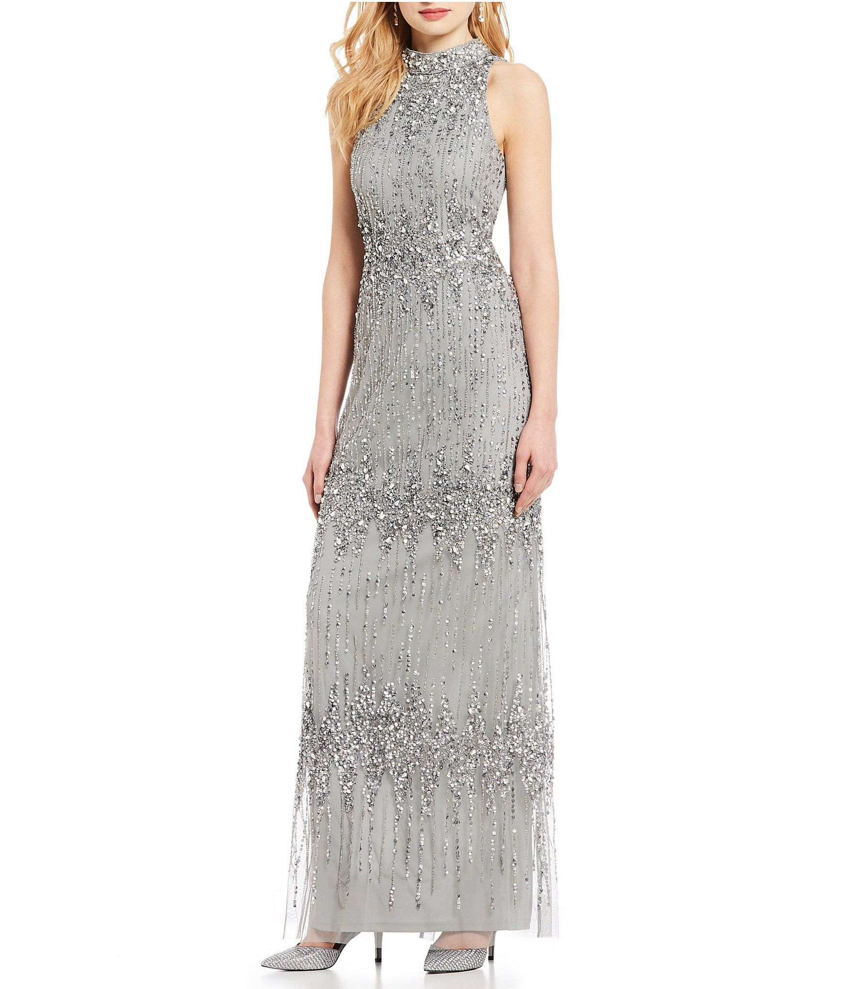 a22eef2437b Shop for Adrianna Papell Beaded Halter Gown at Dillards.com. Visit  Dillards.com to find clothing