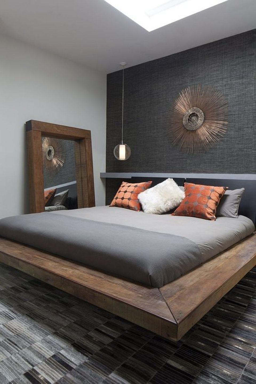 40 Cool Contemporary Floating Bed Design Ideas Bedroom Interior Bachelor Pad Bedroom Mens Bedroom