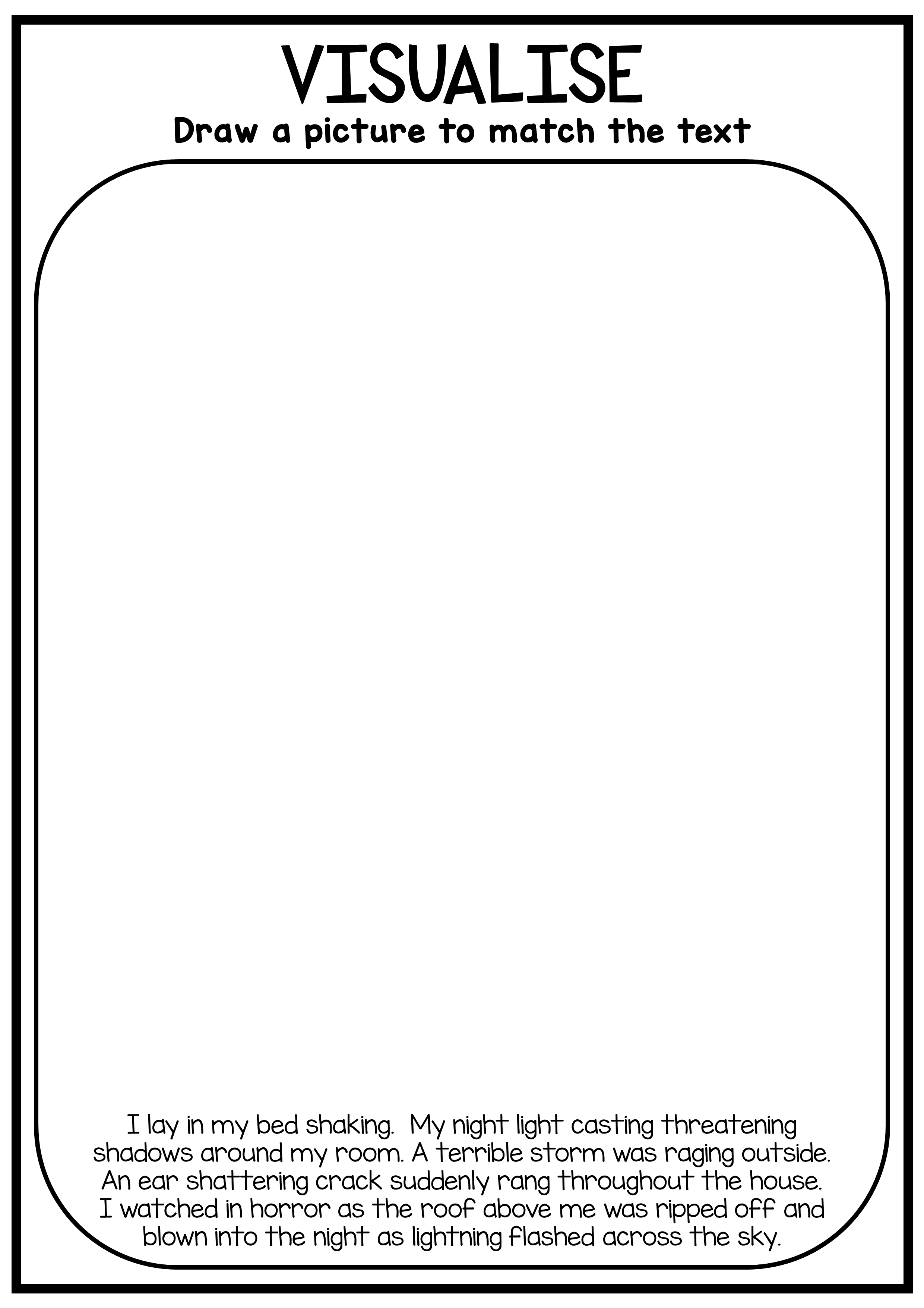 Visualizing (Visualising) - Reading Worksheet Pack   Reading worksheets [ 3508 x 2480 Pixel ]