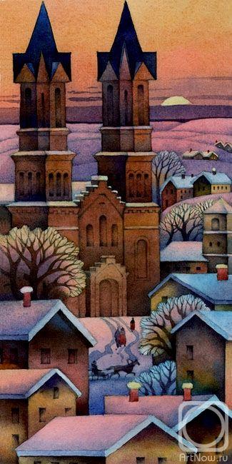 Картина «Merry Christmas»   Картины, Художники и Акварель