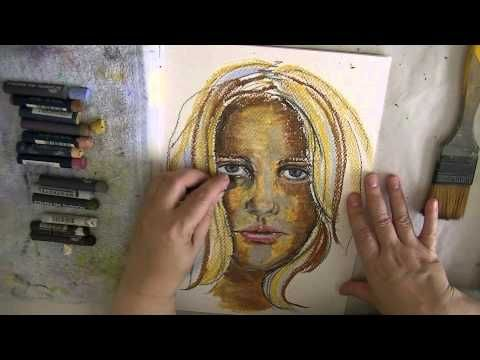 Oil Pastel Face 4 Jeanette House Oil Pastel Pastel Art Tutorials
