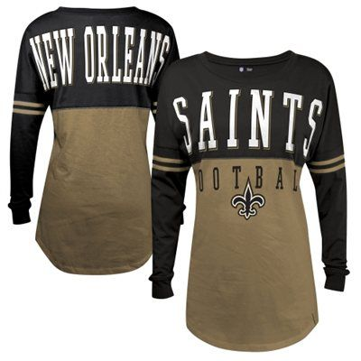 New Orleans Saints 5th   Ocean by New Era Women s Baby Jersey Spirit Top  Long Sleeve T-Shirt - Gold 60867c18e