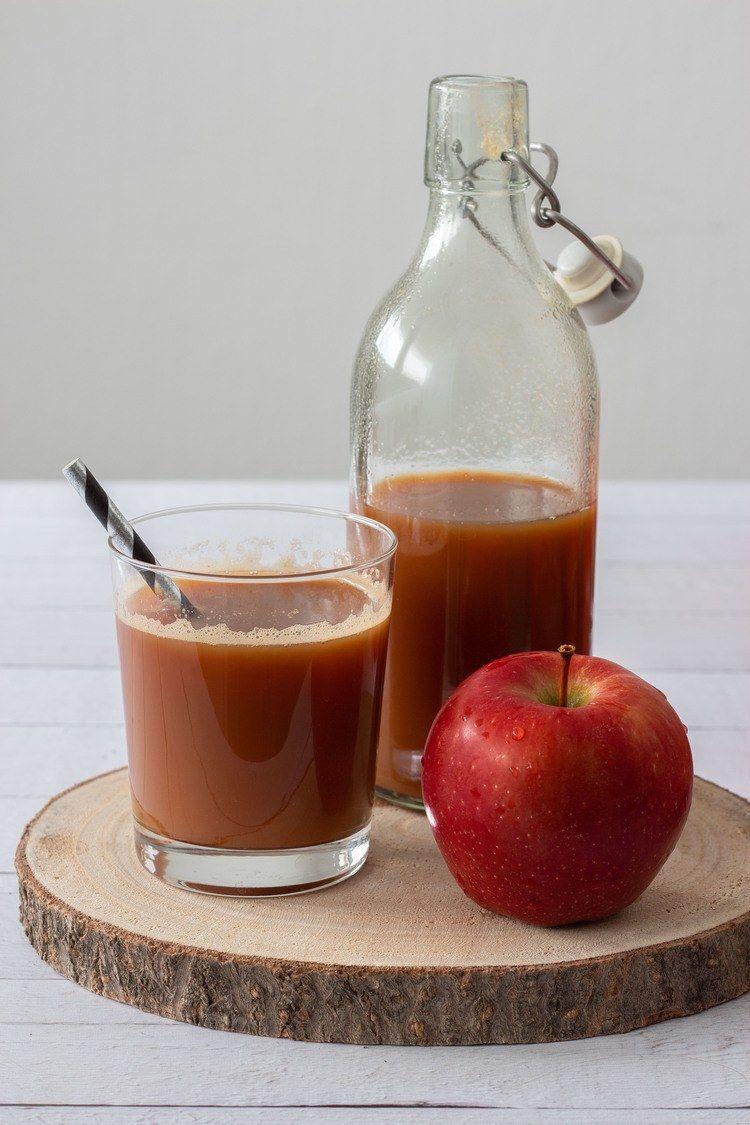Homemade Apple Juice Raw Sugar Free Recipe Sugar Free Apple Juice Homemade Apple Juice Vegan Drinks Recipes