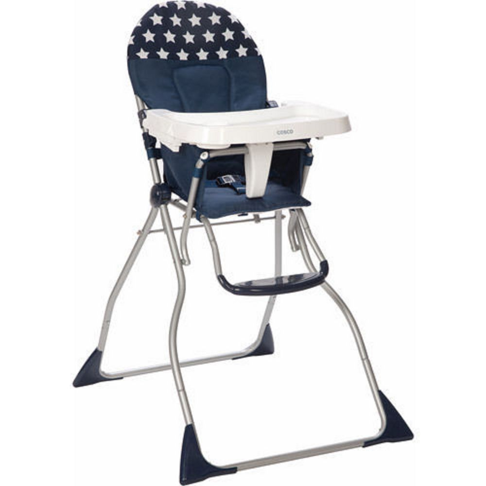 Cosco Flat Fold High Chair Star Spangled New Folding High Chair Cosco High Chair