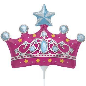 Balão Metalizado Coroa de Princesa 14'