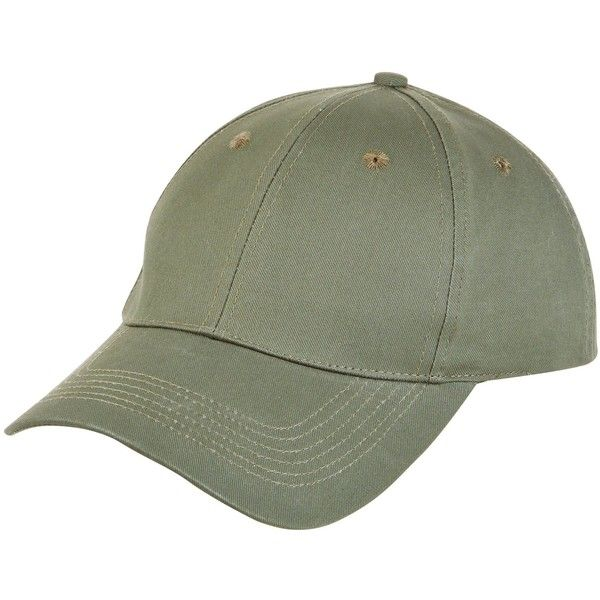 New Look Khaki Baseball Cap ($12) ❤ liked on Polyvore featuring accessories, hats, khaki, khaki baseball cap, khaki hat, baseball cap, ball caps and baseball hat