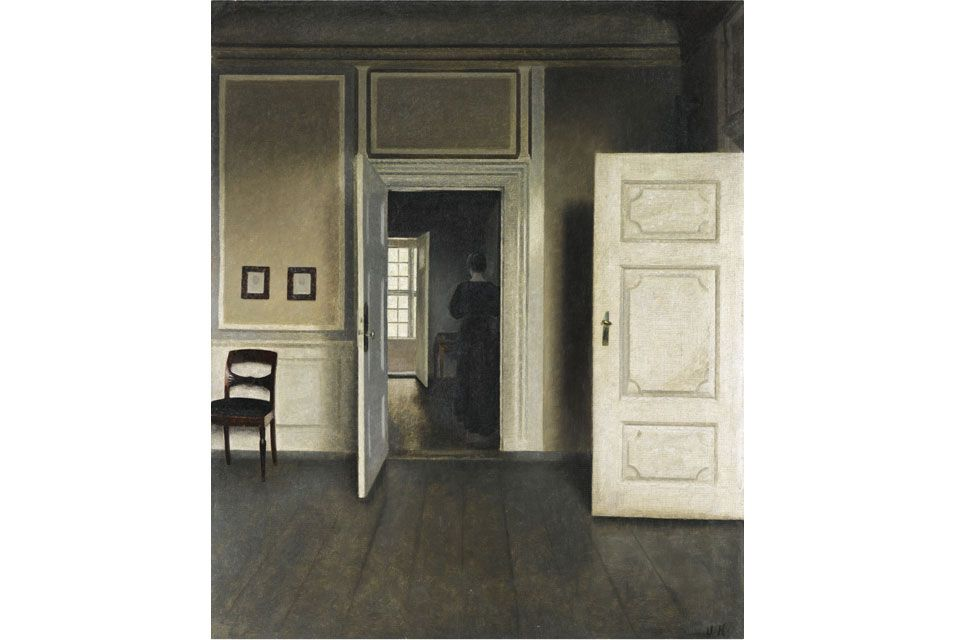 Vilhelm Hammershøi (Copenhagen 1864–1916 Copenhagen), Interior. Strandgade 30, 1901. Oil on canvas
