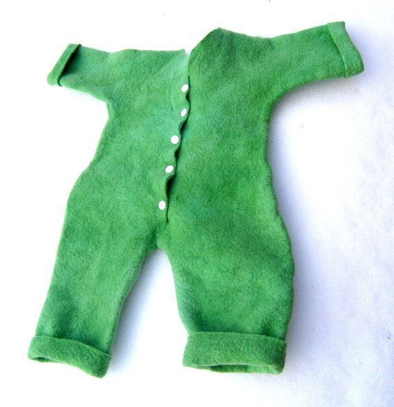 Hand felted merino wool baby overall by Jurgafelt on Etsy, $100.00