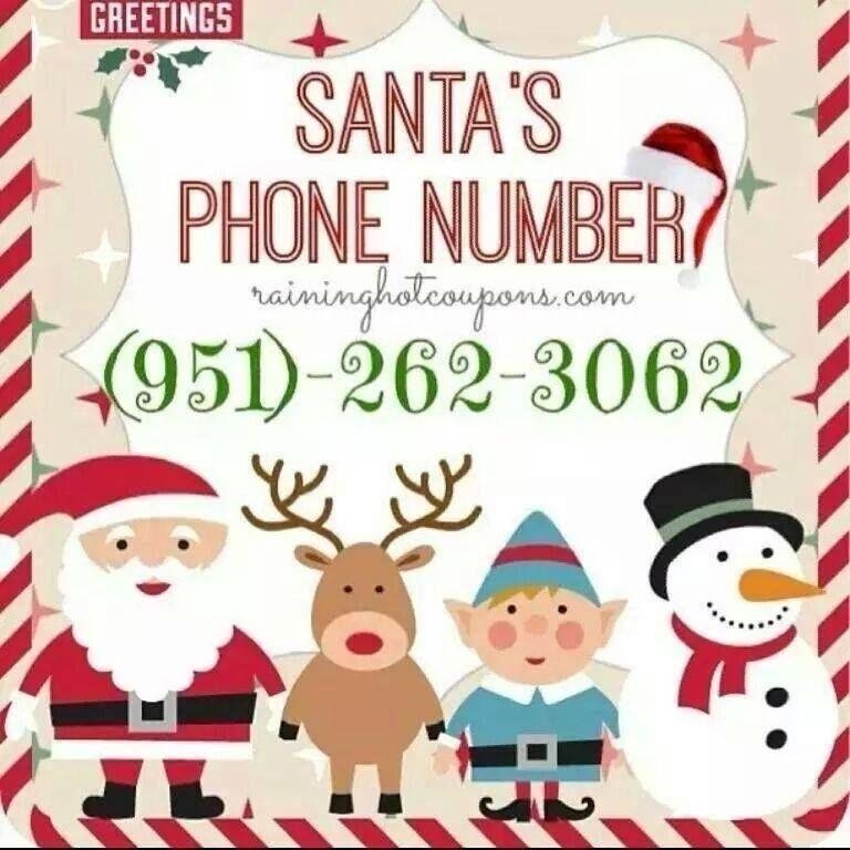 Santa's Phone Number christmas santa christmas pics phone number