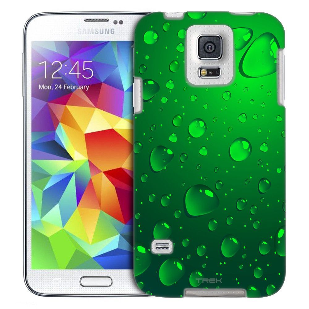 Samsung Galaxy S5 Green Water Drops Slim Case