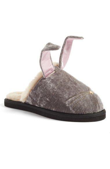 b0191550055243 kate spade new york  bonnie - bunny  velvet slipper (Women) available at…