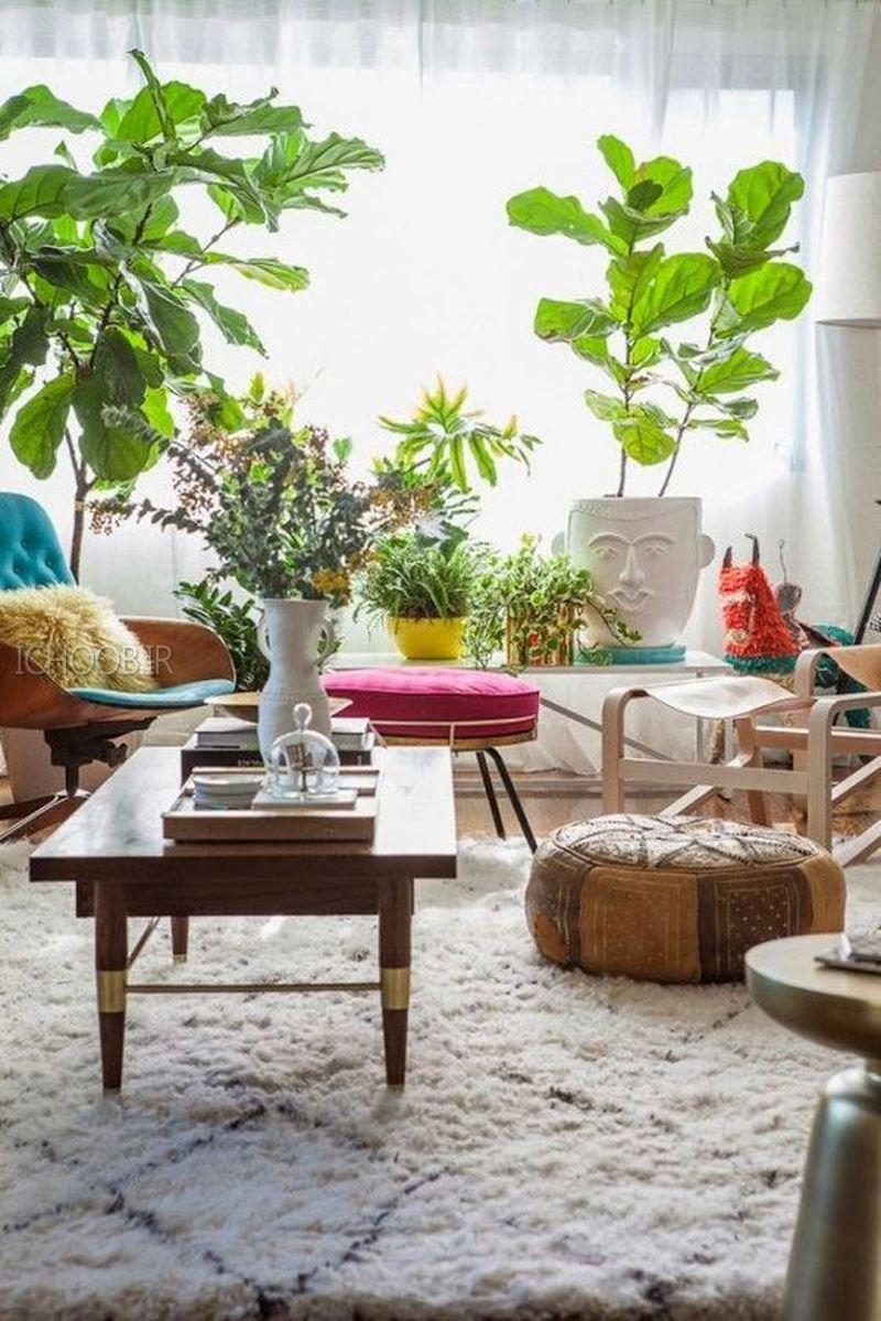 #Wohnzimmer Designs 10 GLÜCKLICHE WOHNZIMMER IDEEN MIT PFLANZEN #Häuser  #Home #Moderne #