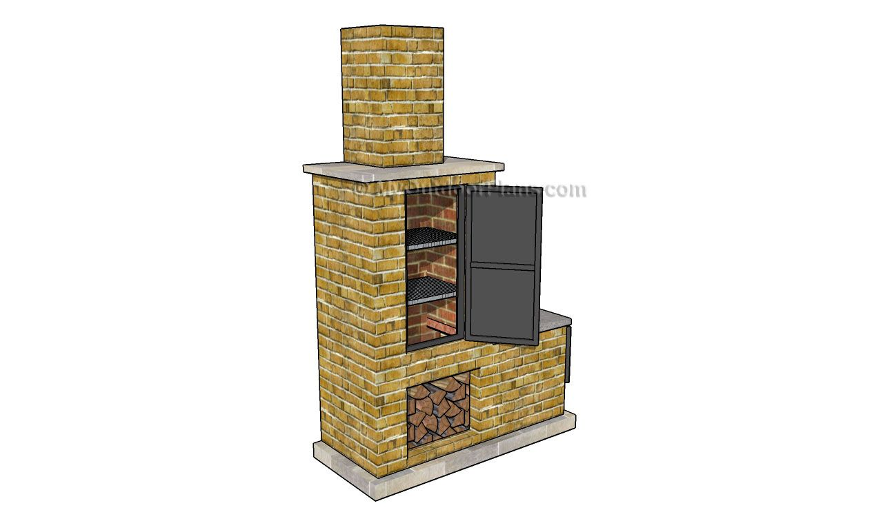 brick smoker plans | ... www.grabthebasics.com/barbeque ... on homemade brick bbq pits, cement block smoker, homemade fire pit, cinder block grill and smoker, brick block smoker, cinder block pig smoker,